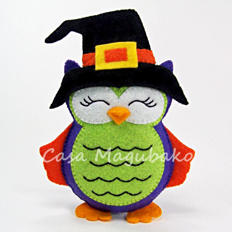 Felt Halloween Owl Ornament Digital Sewing Pattern Diy
