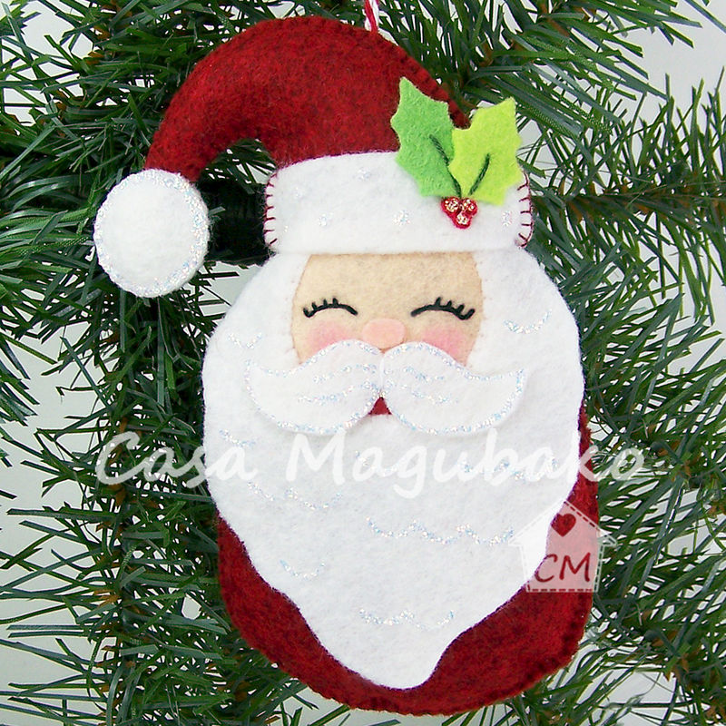 Santa Ornament Sewing Tutorial Diy Hand Stitched