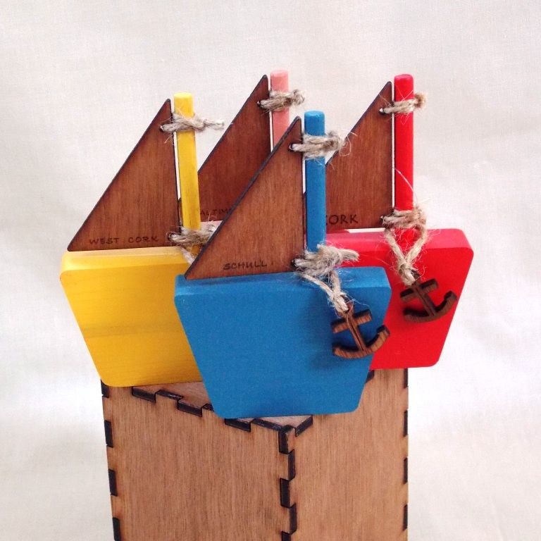 Personalised Small Wooden Sail Boat