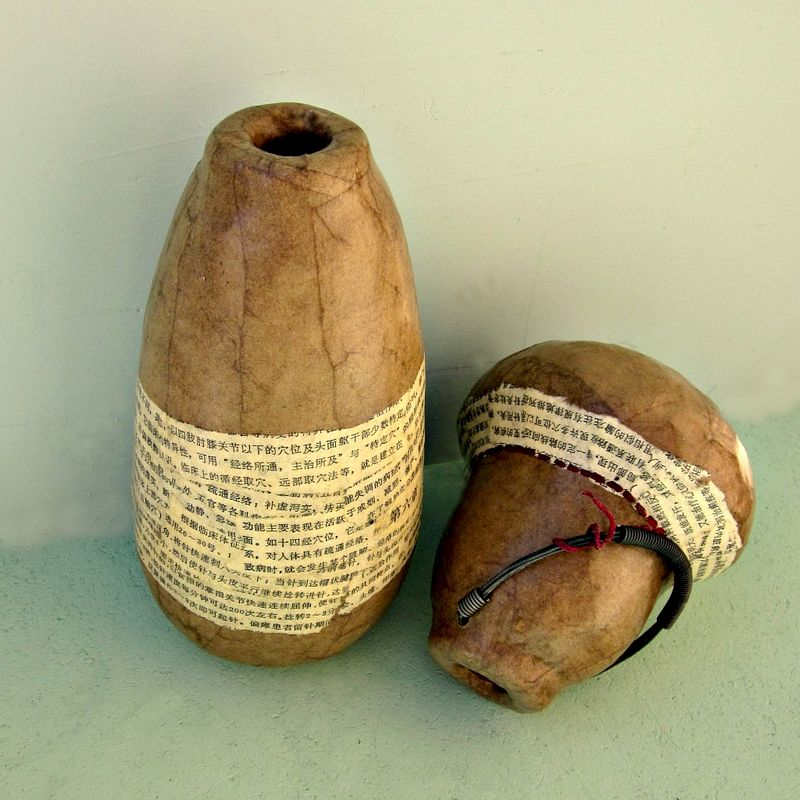 Shop Towels Paper Mache: Handmade Paper Mache Vase With Wire And Chinese Character