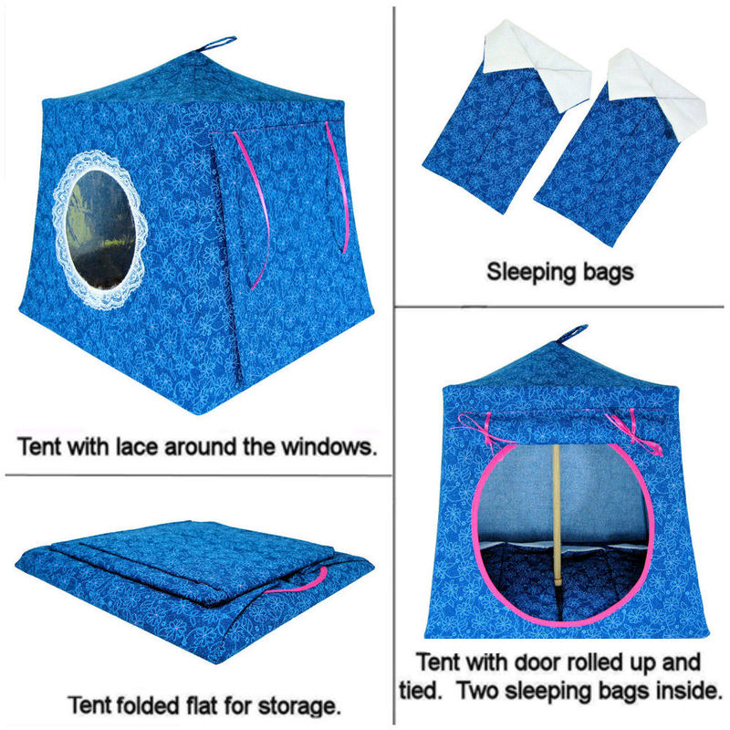Aqua Toy Play Pop Up Tent 2 Sleeping Bags Flower Print