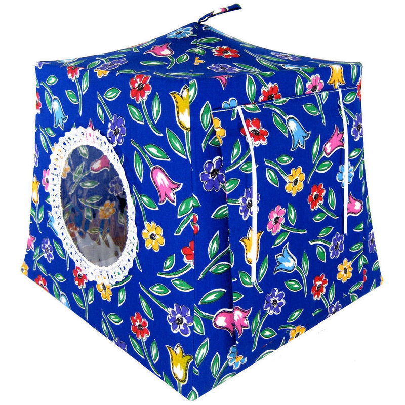 Royal Blue Toy Play Pop Up Tent 2 Sleeping Bags Flower