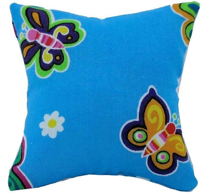 Tooth Fairy Pillow Light Blue Butterfly Print Fabric