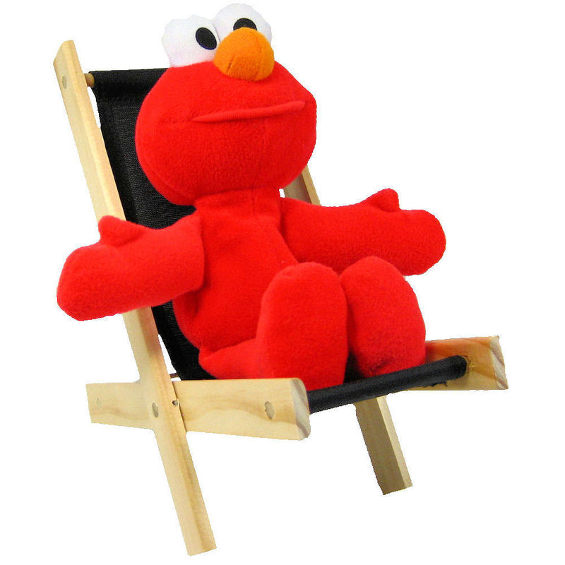 Elmo Folding Chair Toy Wood Lounge Folding Chair, black fabric - Toy Tents ...