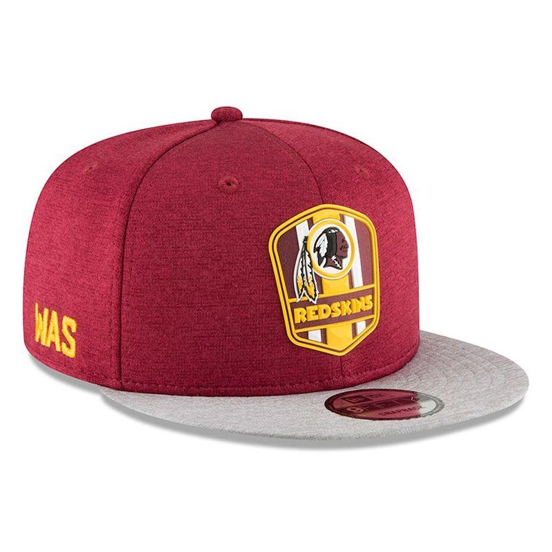 new product 6808f 351ab Washington Redskins New Era 2018 NFL Sideline Road Official 9FIFTY Snapback  Cap - Capkandi