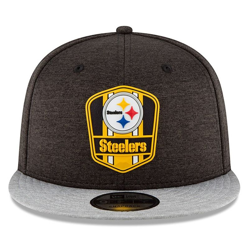the best attitude a3799 3fa50 Pittsburgh Steelers New Era 2018 NFL Sideline Road Official 9FIFTY Snapback  Cap - Capkandi