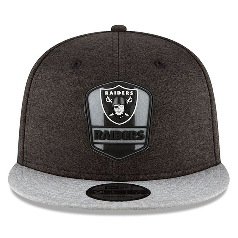 check out 57298 0e4fd ... coupon code oakland raiders new era 2018 nfl sideline road official  9fifty snapback cap product images