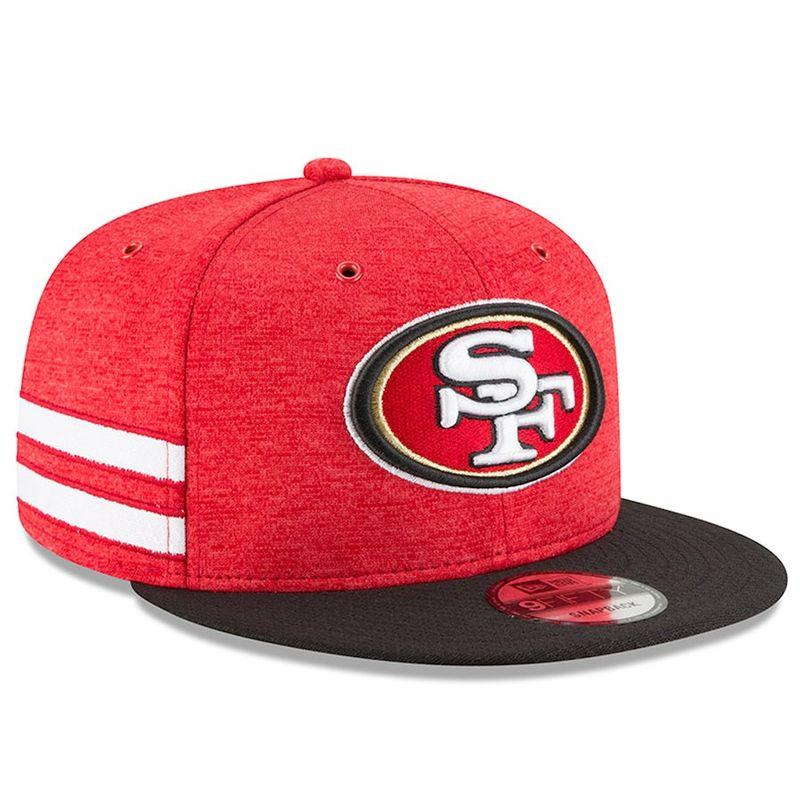 new arrivals f3493 9f741 San Fransisco 49ers New Era 2018 NFL Sideline Home Official 9FIFTY Snapback  Cap - Capkandi