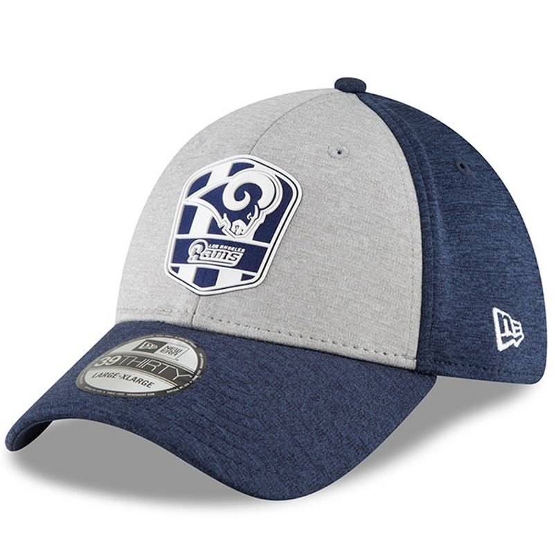 check out 5c5fa 4fce7 Los Angeles Rams New Era 2018 NFL Sideline Road Official 39THIRTY Cap -  product images of ...
