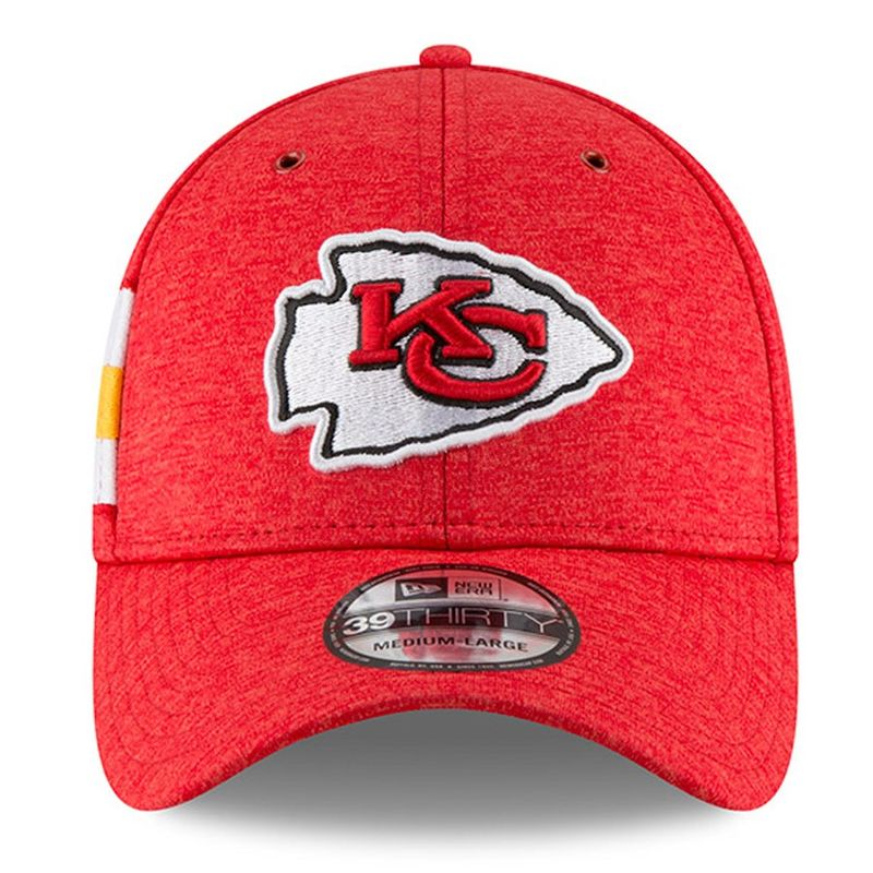 low priced 4c7c7 3d473 ... Kansas City Chiefs New Era 2018 NFL Sideline Home Official 39THIRTY Cap  - product images of ...