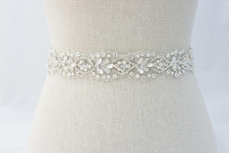 Rhinestone Bridal Sash Ivory Bridal Sash Bridal Belt