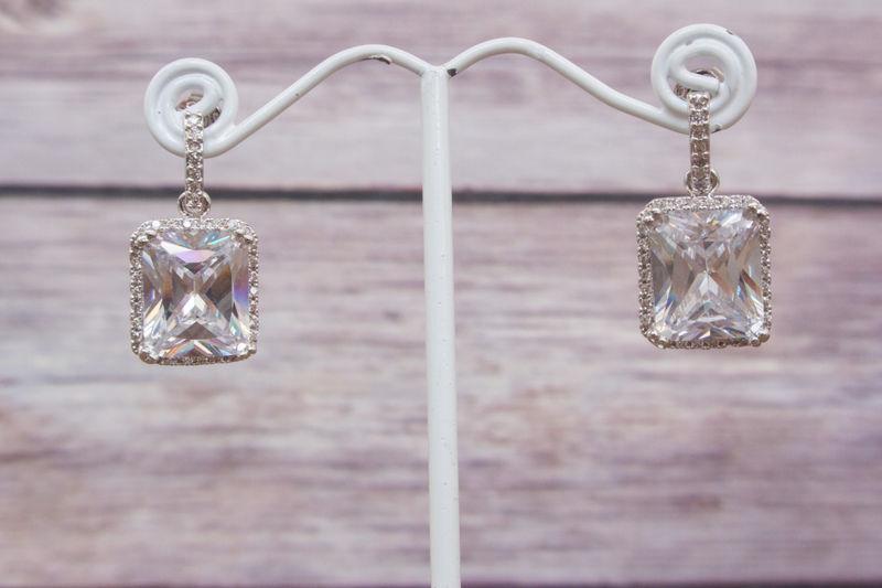 Bridal Earrings Crystal Wedding Chandelier Earring Pearl Swarovski Sparklesm Colette