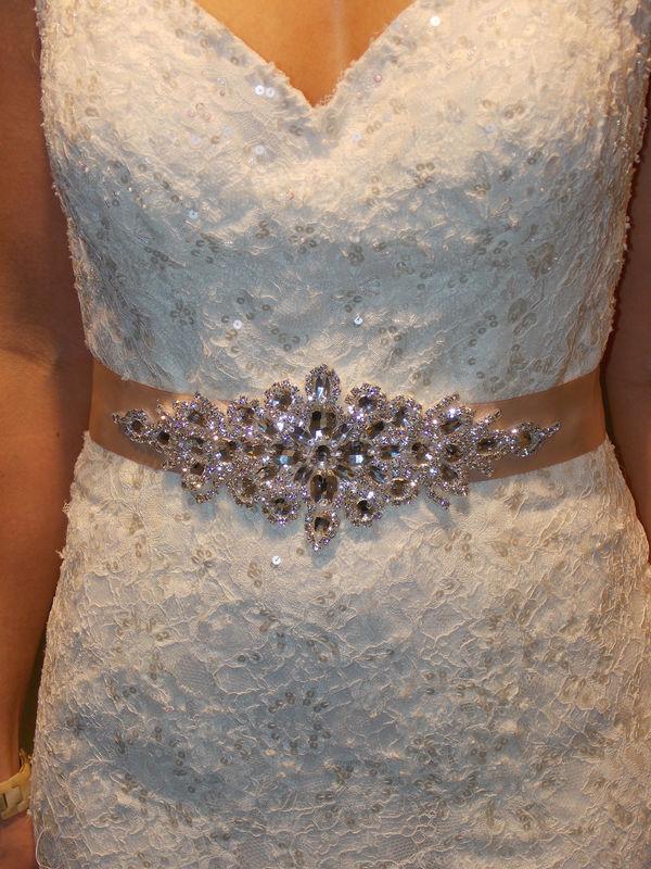 Rhinestone Applique Wedding Belt Rhinestone Dress Sash Bridal