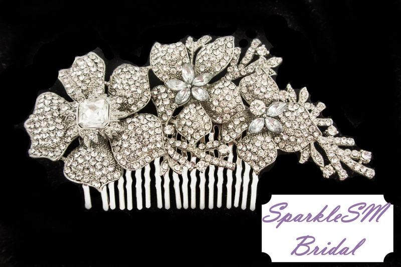 146e58b6c ... Rhinestone Comb, Bridal Comb Crystal, Wedding Crystal Hair Comb, ...