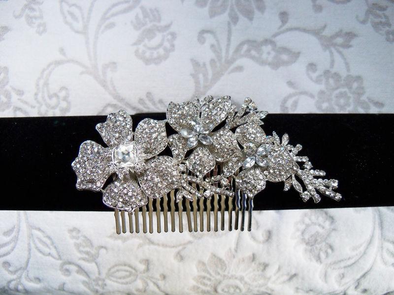 2ebca8da1 ... Rhinestone Comb, Bridal Comb Crystal, Wedding Crystal Hair Comb, Hair