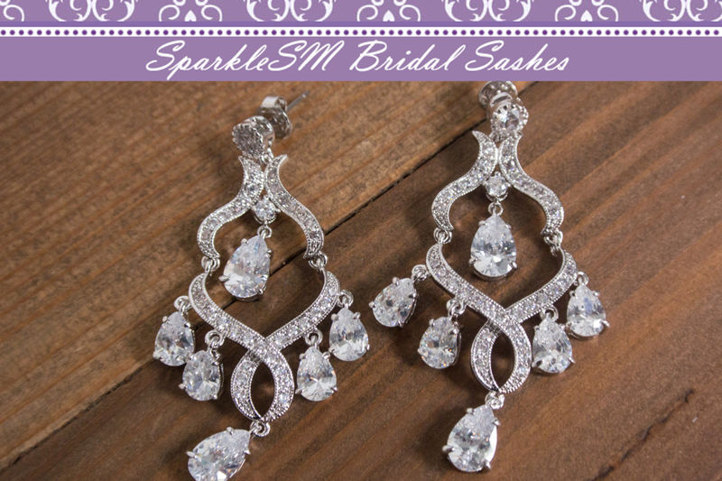 Rhinestone Bridal Earrings Crystal Chandelier Drop Earring Wedding Swarovski