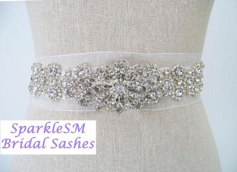 Maya Crystal Sash Sparklesm Bridal