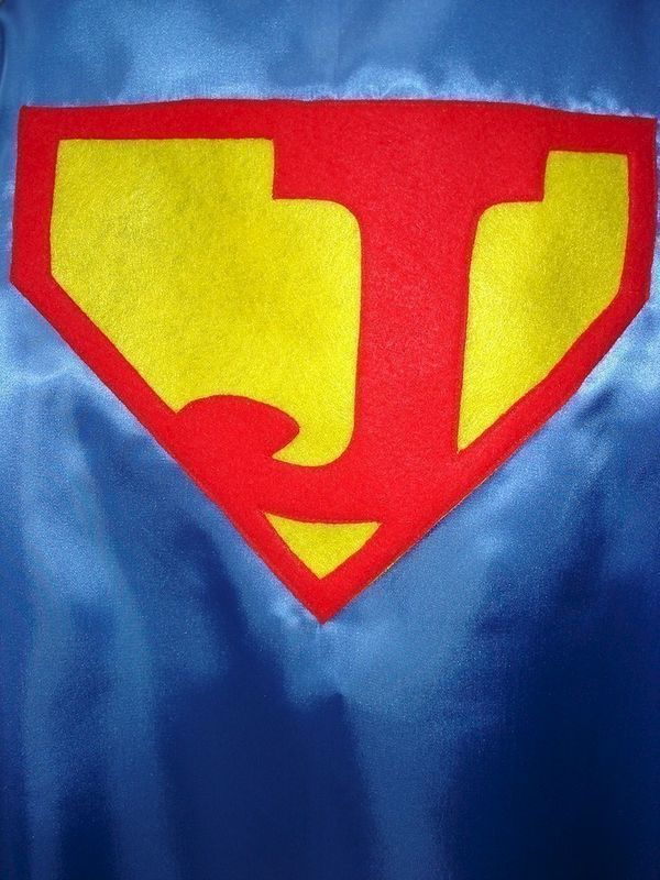 Children S Custom Made Handmade Superhero Personalized Initial Kids Cape For Boys And Product Images