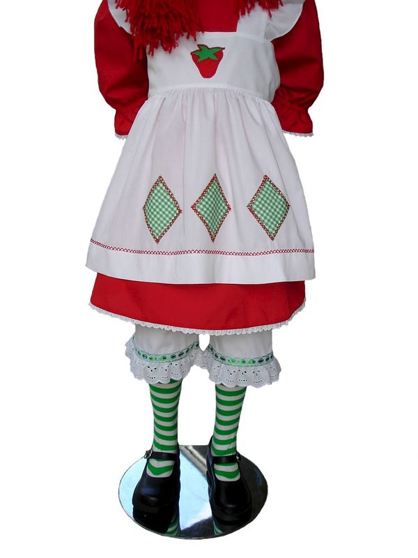 58c59da1c19 Custom Boutique Halloween STRAWBERRY SHORTCAKE Girl's Costume Set
