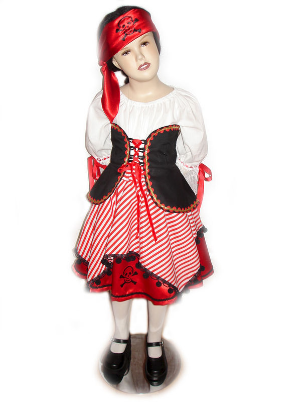 e9a391040fb Custom Boutique Halloween PIRATE Girl's Size Costume Set