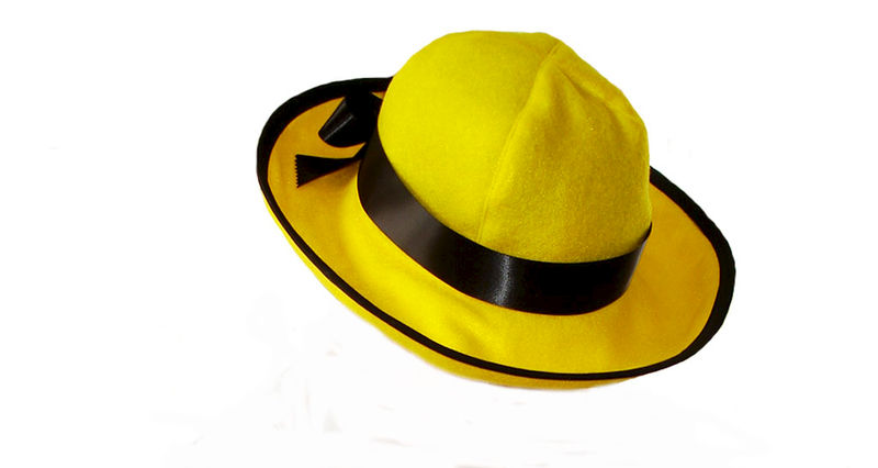 ... Custom Boutique Halloween MADELINE Yellow Felt Hat - product images of d703e623378