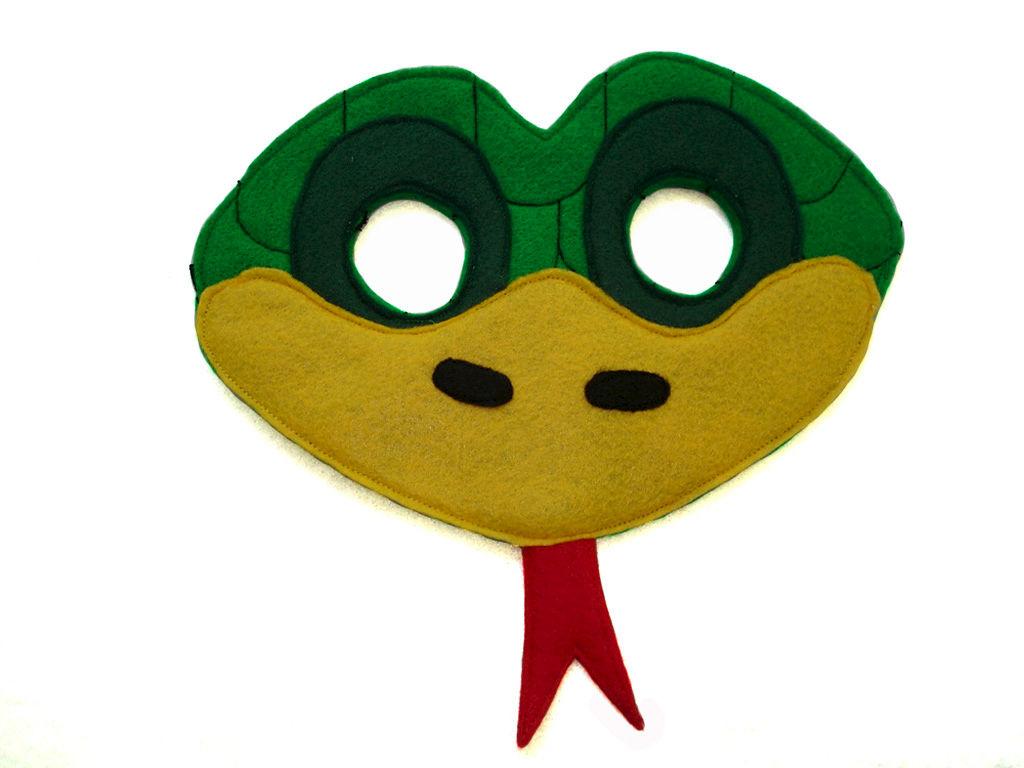 children s mask templates - children 39 s green snake felt animal mask magical attic