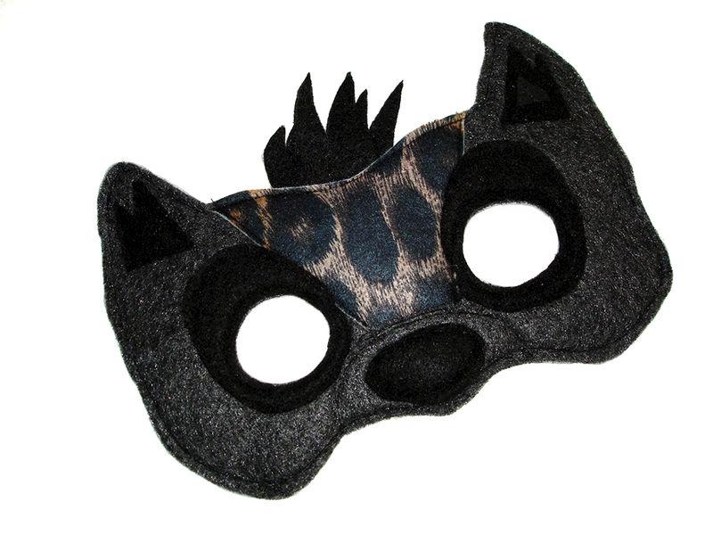 Children's Safari Animal HYENA Felt Mask - Magical Attic