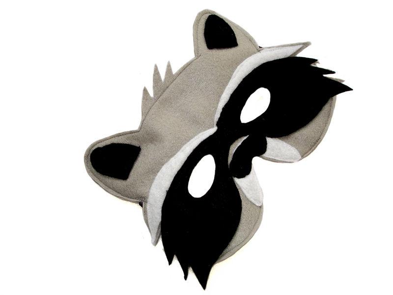 Children's Woodland Animal RACCOON Felt Mask