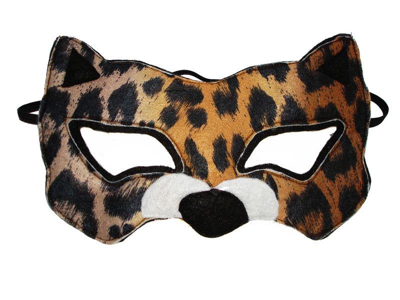 d17c6dedb25a Children's Safari Animal LEOPARD Felt Mask - product images ...