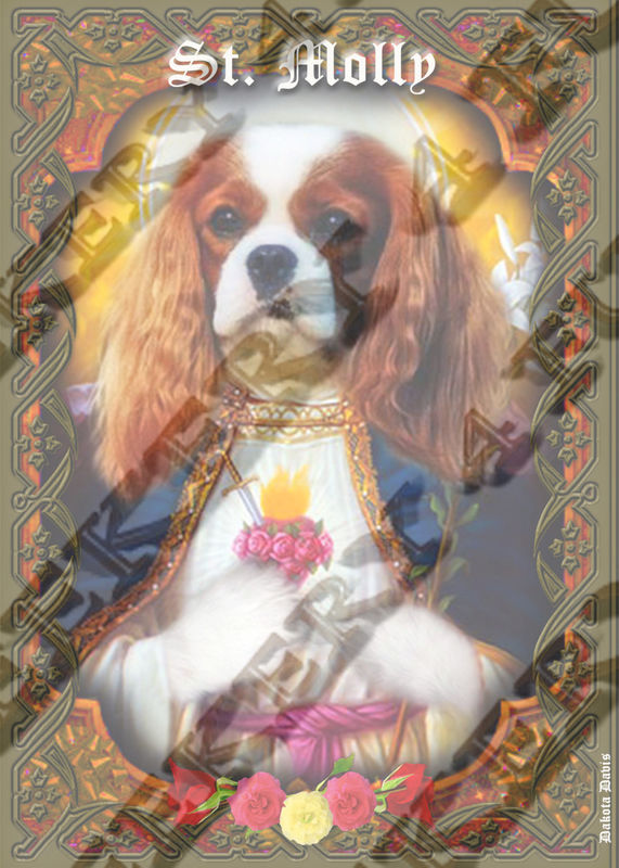 8 Dog Puppy Cavalier Tribute Candle