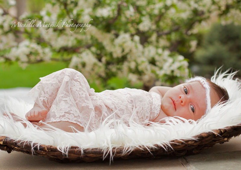 Newborn Lace Wrap Set Baby Grace