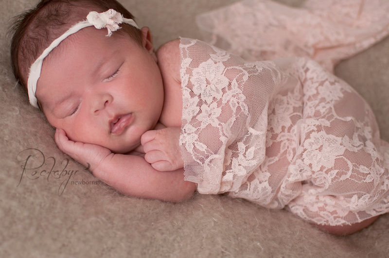 Baby wrap and tieback newborn headband stretch lace wrap newborn photo prop