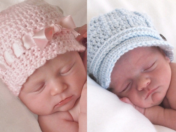 Newborn crochet twins newborn photo props baby crochet hats set twin baby