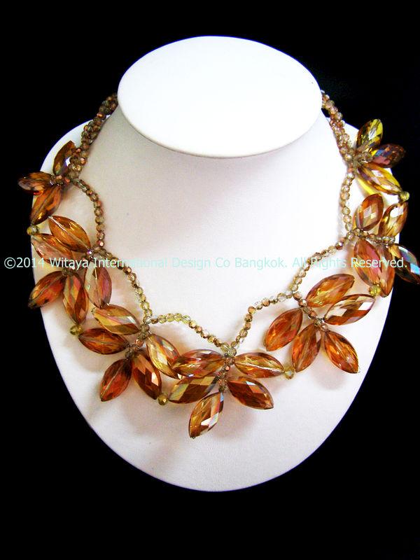 Terrifically Topaz Statement Necklace - Thai Fashion Jewelry f56f22e475