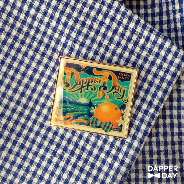 DAPPER DAY Orange Grove Lapel Pin