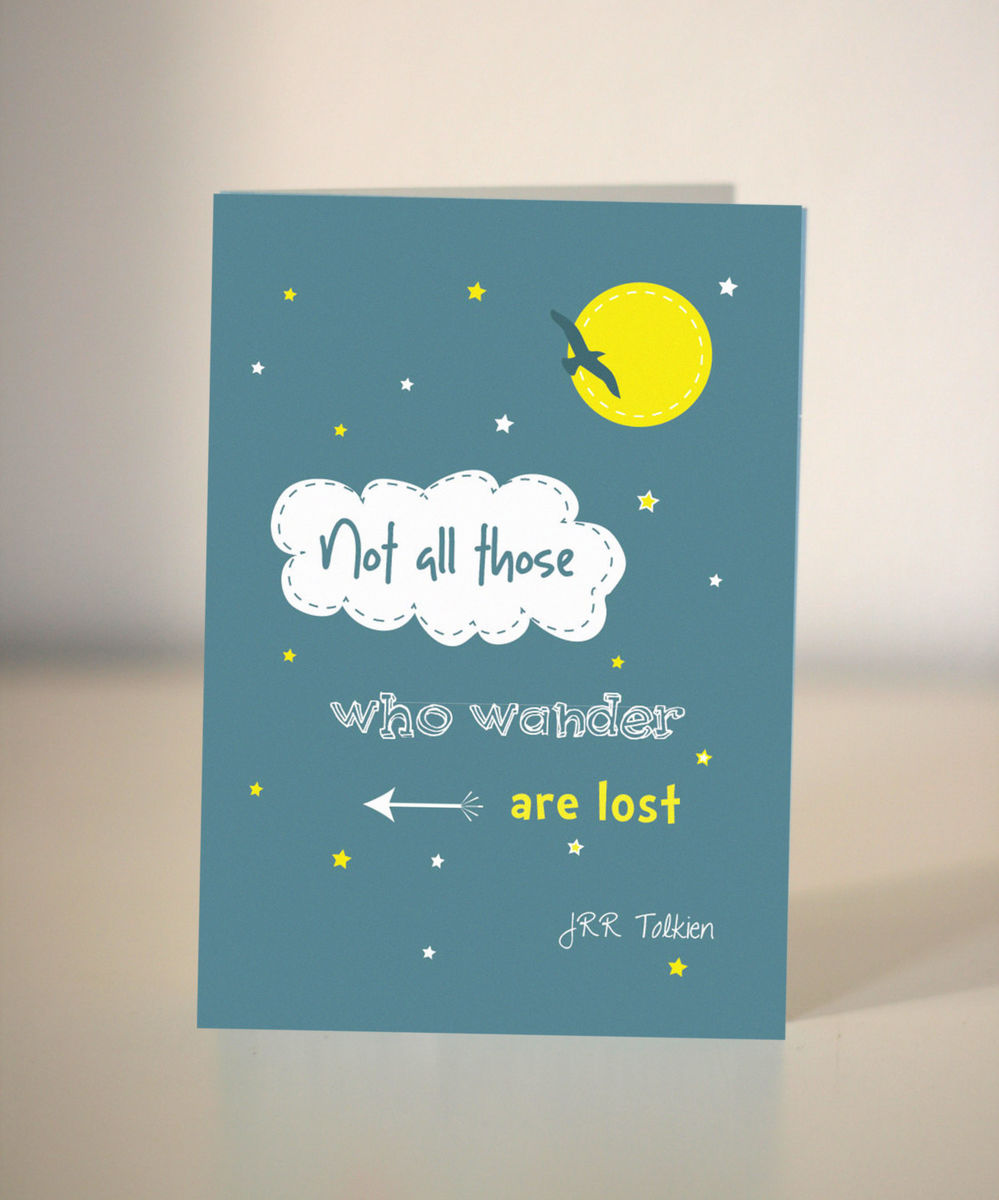 farewell card  jrr tolkien quote card  not all those