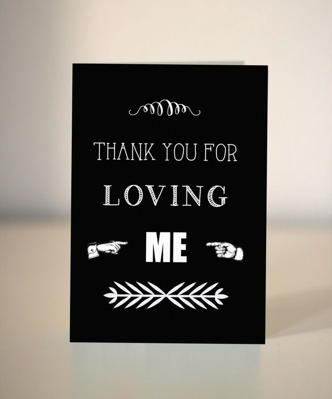 Thank you cards for husband