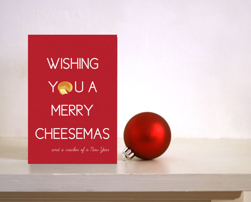 bfc68651e Funny Christmas card - wishing you a Merry Cheesemas - Foodie card / card  for Husband