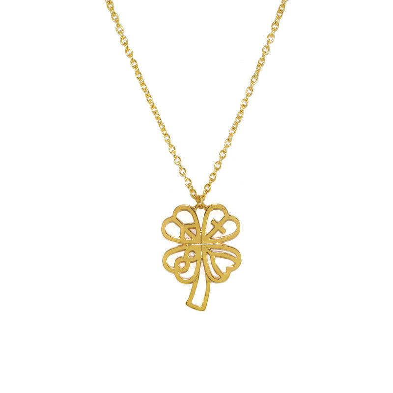 5160bf969b LUCKY LEAVES PENDANT NECKLACE - Rings & Tings | Online fashion store ...