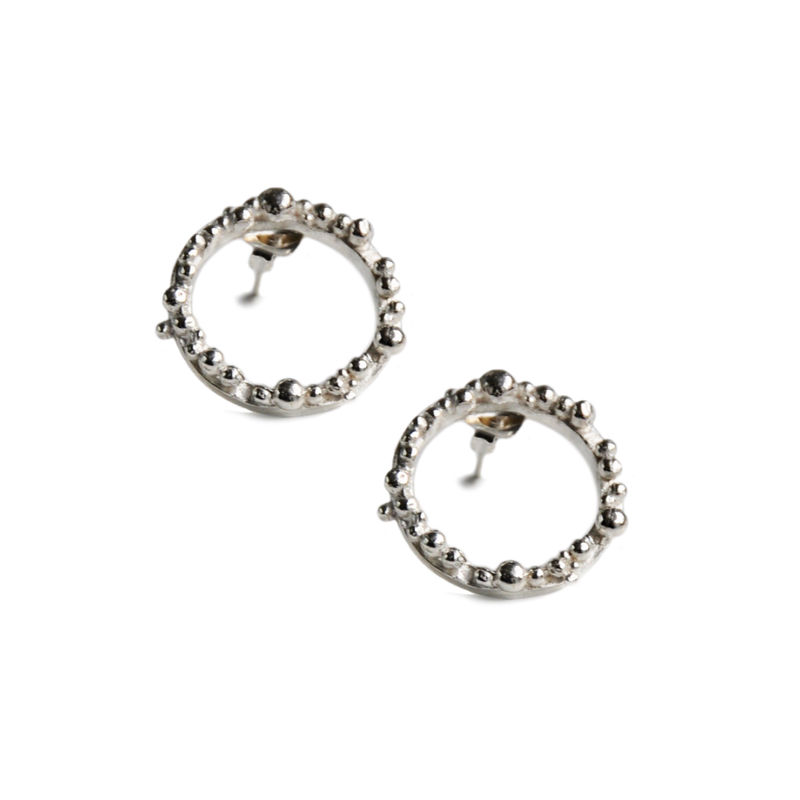 66701146c ORB Hoops medium - silver with irregular granulation - product images of ...