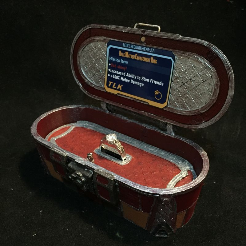 Borderlands 174 Loot Chest Mini Jewelry Box Tinkervise Studios