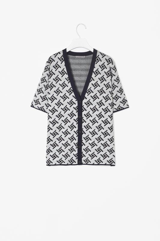 Jacquard Knit Cardigan Tla