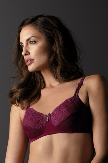 Louise Non-Wired Mastectomy Bra – Burgundy - Pink Ribbon Lingerie 4c7755f56
