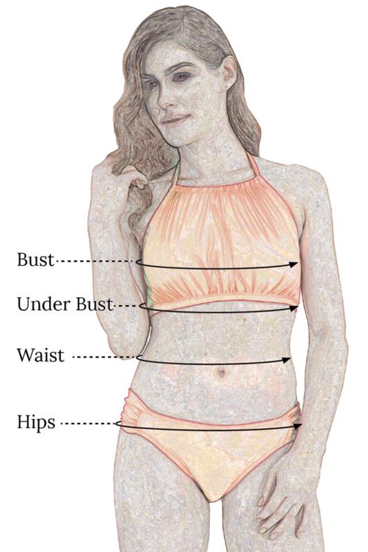 b2f0f7a07b Dive High Neck Mastectomy Bikini - Ocean Blue - product images of ...