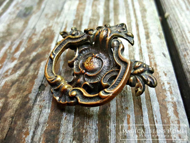 Kbc Vintage Victorian Drop Pull In Dark Brass Magical