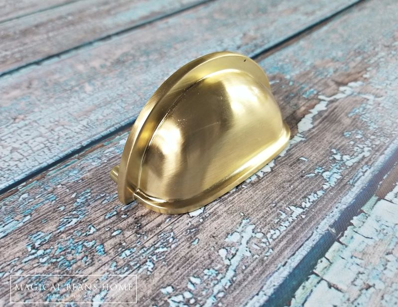 Decorative Gold Apothecary Bin Cup Pull Magical Beans Home