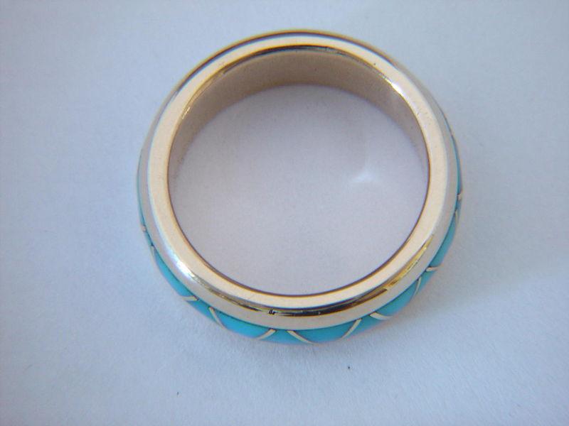 Traditional Navajo Style Wedding Band Design 18 Karat