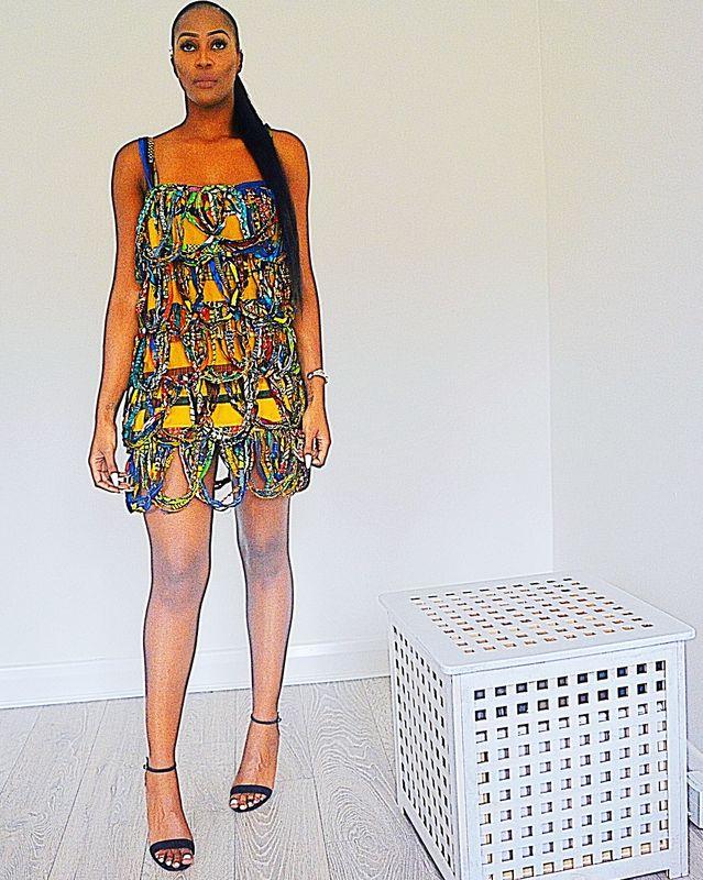 f77d50b9440 Riri Rope African print Dress - sosome - Ready made African Print