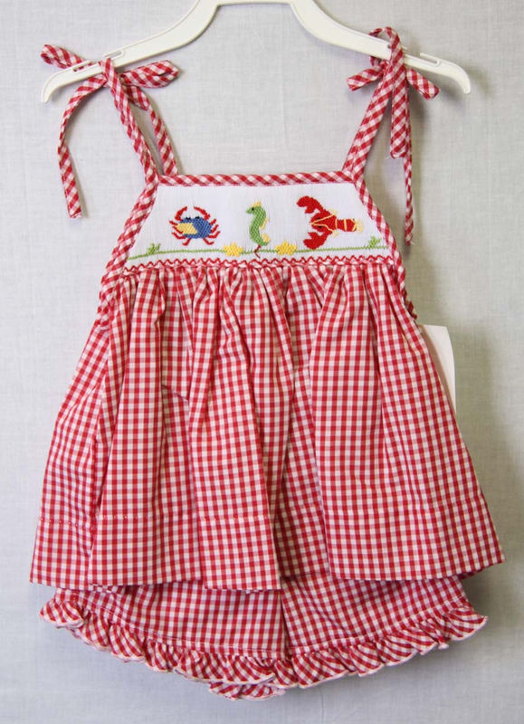 4e30fb7d0d Baby Beach Clothes, Smocked Clothing, Cute Little Girls Clothes 412460 -  BB010 - product