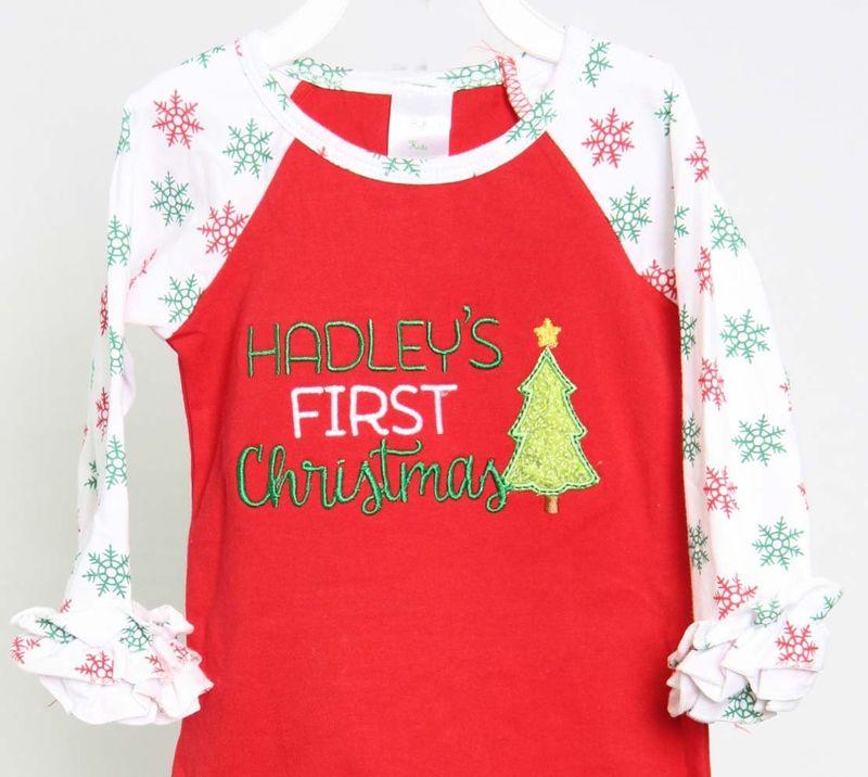 My First Christmas.Baby Girl First Christmas Outfit My First Christmas Baby Girl Outfit 293457
